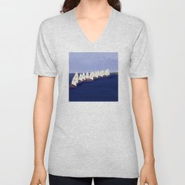 In May, May's Regatta - shoes stories Unisex V-Neck