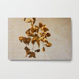 golden flowers Metal Print