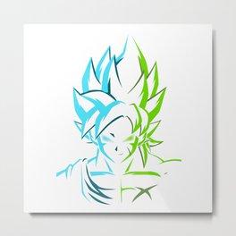 Goku X Broly Metal Print