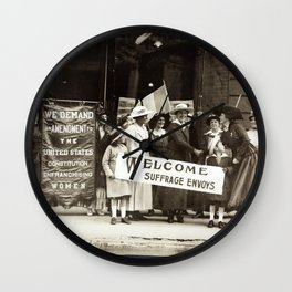 Suffrage Envoy Photograph (1915) Wall Clock