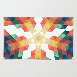 Retro star backdrop. Mosaic hipster background made of triangles Rug