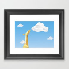 Into the cloud Framed Art Print