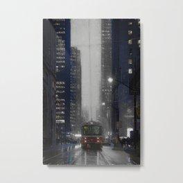 Street and city art print of downtown Toronto Metal Print