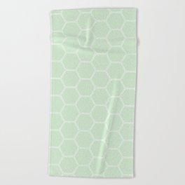 Honeycomb Light Green #273 Beach Towel