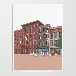 Upstate New york, NY, USA _ Illustration _ Drawing _ Travel _ City _ Wall Decor _ Design Poster