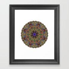 Hallucination Mandala 1 Framed Art Print