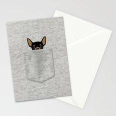 Pocket Chihuahua - Black Stationery Cards