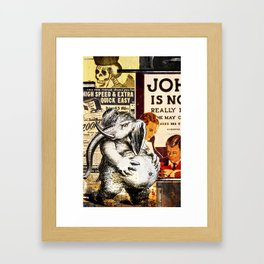 Muffin in the Middle Framed Art Print