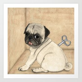 Toy dog; Pug Art Print