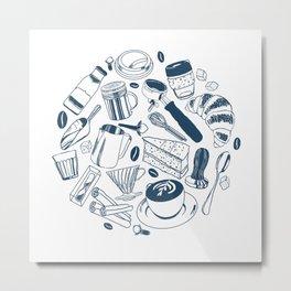 Coffee is Life Metal Print