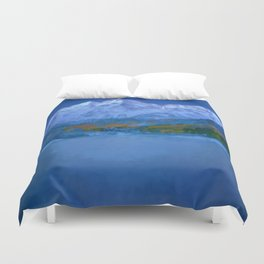 Maroon Bells Early Morning Abstract Duvet Cover