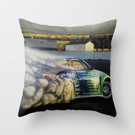 Drifting Car III Throw Pillow