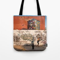 brooklyn Tote Bags featuring Brooklyn by Phil Provencio