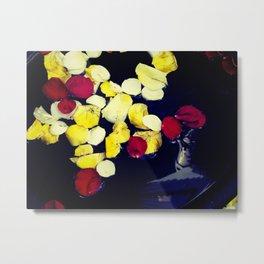 Rose Petals in Water Metal Print