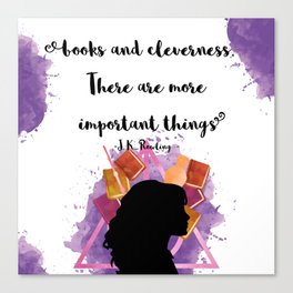 Books and Cleverness Canvas Print