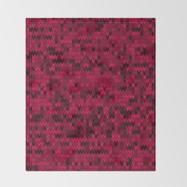 Red knitted textiles Throw Blanket