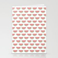 watermelon Stationery Cards featuring Watermelon by Note to Self: The Print Shop