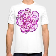 8BIT flower White Mens Fitted Tee MEDIUM