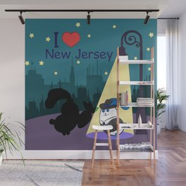 Ernest and Coraline | I love New Jersey Wall Mural