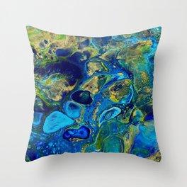 Ocean Jewel Abstract Throw Pillow