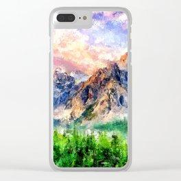 Artwork - Beautiful Mountain Clear iPhone Case