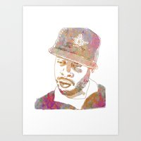 j dilla Art Prints featuring J Dilla Marble Effect by JLillustration