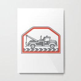 Tow Wrecker Truck Side Retro Metal Print