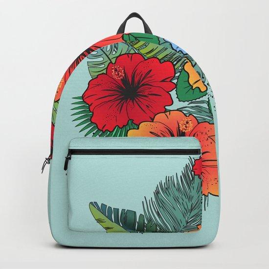 Hawaiian Flowers Backpack