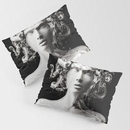 Silver Medusa Pillow Sham