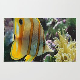 Yellow Longnose Butterfly Fish Rug