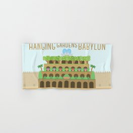 World Wonder: Hanging Gardens of Babylon Hand & Bath Towel