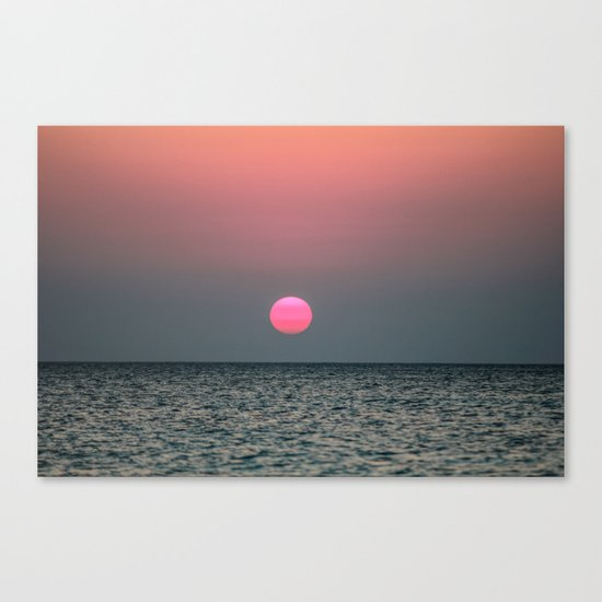 Sunset over the Pacific Canvas Print
