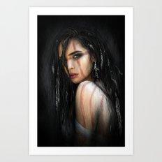 Pale Feathers Art Print