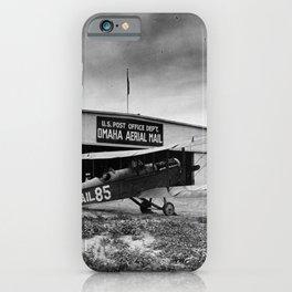 Omaha airfield airplain hangar america 1940s usa transportation iPhone Case