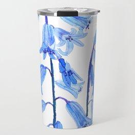 botanical bluebell flowers watercolor Travel Mug