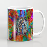 hippy Mugs featuring Hippy Girl by AuntyReni's Creations