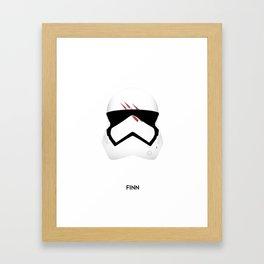 Finn-Stormtrooper Helmet Framed Art Print
