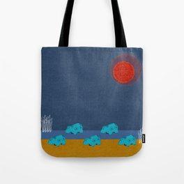 Hippo Parade Tote Bag