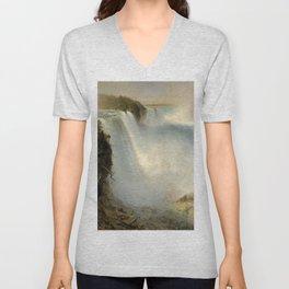 Frederic Edwin Church - Niagara Falls Unisex V-Neck