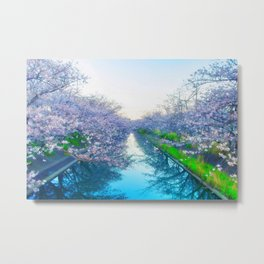 Cherry Blossom Japan Metal Print