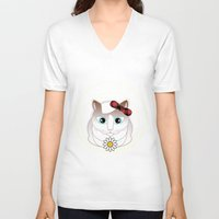 halo V-neck T-shirts featuring Halo Pili by Pilar Andres
