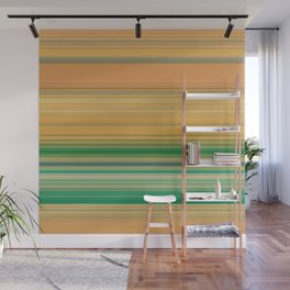 yellow and green horizontal lin Wall Mural