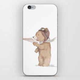 Aviator Bear iPhone Skin
