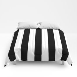 Stripes Black And White Comforters