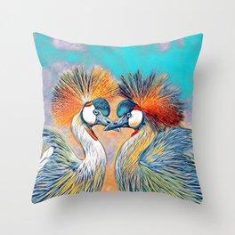 AnimalMix_Bird_004_by_JAMColors Throw Pillow
