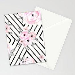 Blush Roses Mod Stationery Cards