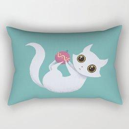 Mischievous kitty Rectangular Pillow