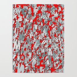 The letter matrix RED Poster