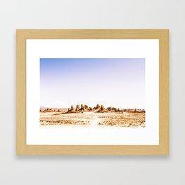 Mystery Planet - Trona Pinnacles Tufa Spires Framed Art Print