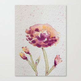 Spring Blossom II - Watercolor Flower Canvas Print